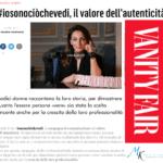 Ufficio Stampa Portfolio Io sono ciò che vedi Vanity Fair, articolo di Valeria Vantaggi