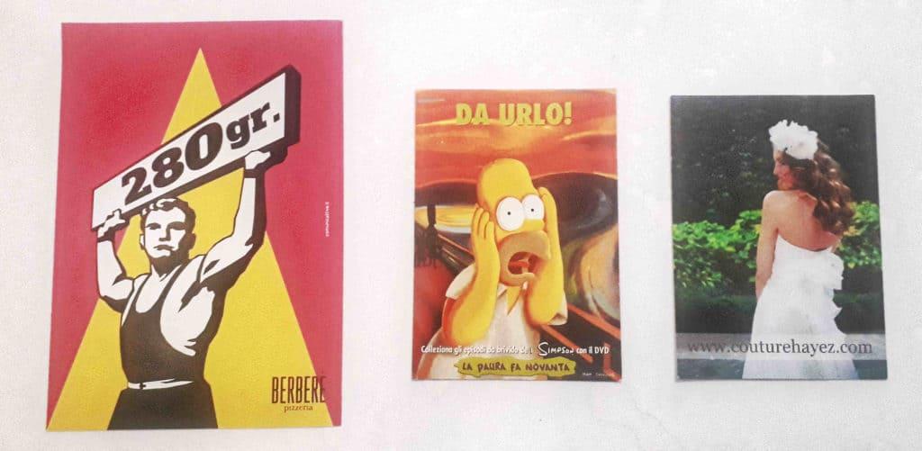 ADV Pubblicità locale cartoline promozionali