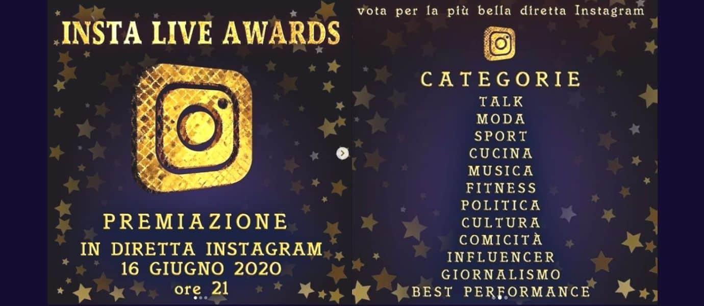 Insta Live Awards - Premiazione in diretta Instagram il 16 giugno 2020   Intervista Gianni Ippoliti sulle dirette di Instagram